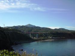 米山大橋の風景